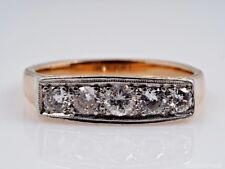 antiker Ring 0,70 Karat Brillanten 585 Gold Platin
