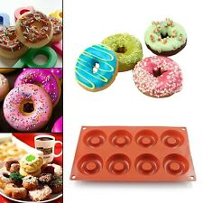 8 Cavity Silicone Donut Cake Cookie Muffin Chocolate Candy Mold Baking Pan Mould