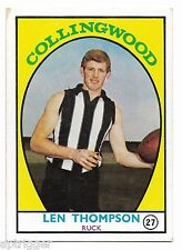 1968 A Scanlens (27) Len THOMPSON Collingwood ::