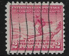 US Scott #716, Single 1932 Olympics 2c FVF Used