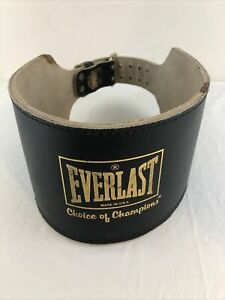 Everlast Weight Lifting Leather Belt #1013B 1013 B Size X-Large XL