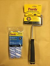 "Purdy Jumbo Mini Roller Frame Plus 2 x 6.5"" Colossus 1/2"" Nap Paint Rollers"
