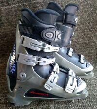 Nordica Exopower Grand Prix silver & black 295mm ski boots size 25.5, 7.5 men's.