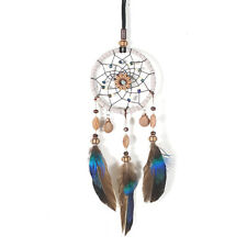 Mini Dream Catcher For Car Beaded Natural Feathers And Handmade S8M6