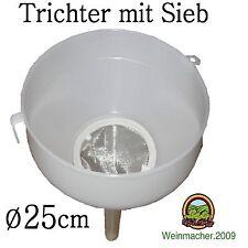 Trichter groß Ø 25cm mit Sieb Kunststoff Weinballon Glasballon  ***