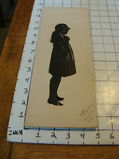 Vintage Original silhouette by BARON SCOTFORD ATLANTIC CITY, girl