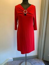 Joseph Ribkoff Red Ruched Detail Evening Dress UK Size 12 Read Description