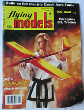 Flying Models Magazine February 1993 Planes Boats Cars Electric Czech Agro-Turbo