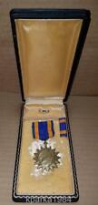 EARLY WW2 US ARMY AIR CORP AIR MEDAL COMPLETE COFFIN CASE  WRAP BROACH THICK BOX