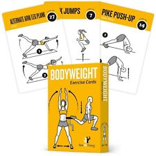 Exercise Cards BODYWEIGHT - Home Gym Workout Personal Trainer Fitness Program...