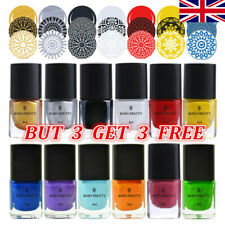 BORN PRETTY 6ml Nail Stamping Polish Stamp Stencils Printing Nail Varnish Tips