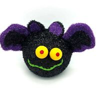 Halloween Novelty Bat Colour Changing Toy Scary Black Fuzzy Bat Party Decoration