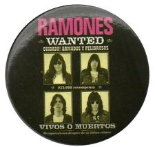 Official Ramones Wanted Poster Badge 1.5 inch Button Pin Badge Punk