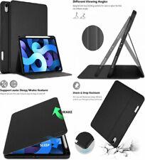 iPad Air 4 10.9 2020 Case Durable Slim Folio Stand Cover Auto Sleep/Wake Black