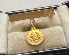 Nice Vintage Hallmarked All Solid 18 Carat Gold Star Sign CANCER  Brooch pin