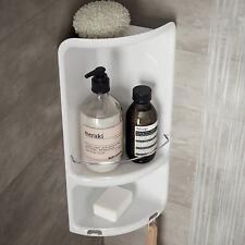 Portasapone angolare per doccia Gedy 1 ripiano in resina e acciaio colore bianco