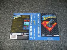 NEW REPLACEMENT SEGA MEGADRIVE GAME BOX ARTWORK - cover only - SUPERMAN DEATH