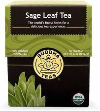 Sage Leaf Tea by Buddha Teas, 18 tea bag 1 pack