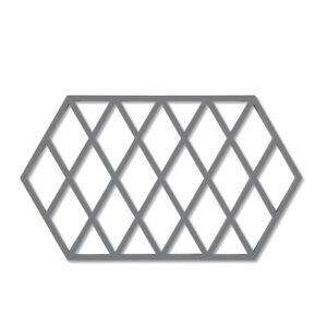Zone Harlequin Long Trivet, Grey Silicone Kitchen Worktop Heat Protector Mat