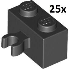 LEGO 25x BRICK 1x2 w/ HORIZONTAL CLIP LOT YOU PICK COLOR part piece #30237