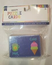 Opposites Puzzle Cards For toddlers. Great educational tool.   20 Ct. Nwt
