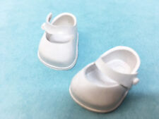 "Vintage White Rubber Maryjane 6"" Chunky Foot Doll Shoe"