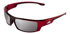 Bullhead Safety SunGlasses Ballistic Rated Red/Black Frame Silver Mirror Lens