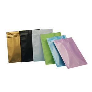 Resealable Aluminum Foil Zip Bag Mylar Food Grade Storage Packaging Lock Pouches