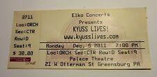 Kyuss Lives Concert Ticket Stub Greensburg, PA 2011
