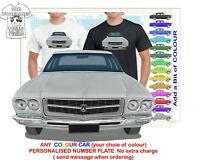 HQ HOLDEN PREMIER 71-74 FRONT CLASSIC ILLUSTRATED T-SHIRT MUSCLE RETRO CAR