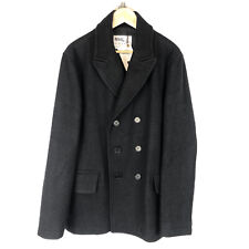 Margaret Howell ® pesado de lana Melton Abrigo En Tinta-Talla L-Nuevo-PVP = 695.00 EUR