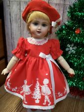 "11"" Bleuette Naughty or Nice Christmas Dress and Hat   Annual Listing   No Doll"