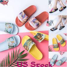 Summer Women  Animal Print Sliders Slipper Flat Soft Comfort Ladies House Shoes