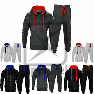 MENS TRACKSUITS SET HOODIE TOP BOTTOMS FLEECE JOGGERS GYM TRACKIES JOGGING S-5XL
