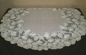 """Heritage Lace Woodland 48"""" Round Table Topper 100% Polyester Ecru"""