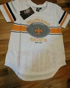 ICER BRANDS NEW ORLEANS SAINTS Mesh Jersey Women's (XL) Shirt NFL Team Apparel