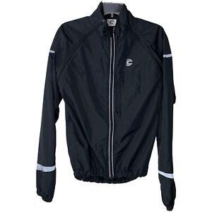 CANNONDALE Chrono Windbreaker Jacket Vented Cycling Mens Large White Black
