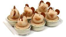 Deko-Teelichter 6 Piece Chicken Pink-Brown