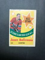 1969-70 OPC #220 Jean Beliveau All Star Second Team 1968-69 N.H.L. Montreal Habs