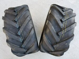 2 - 23/10.50-12 Deestone D405 4P Super Lug Tires AG DS5245 23/10.5-12