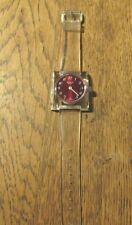 VINTAGE SWISS MECHANICAL WATCH ZENO DE LUXE CLEAR  ACRYL ACRYLLIC CASE 1970'S