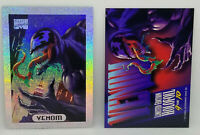 MARVEL MASTERPIECE 1994 * LIMITED EDITION HOLOFOIL #9 OF 10 * VENOM * SILVER*