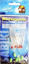 Behr Makrelensystem Makrelenvorfach 5 Haken Gr. 4/0 1,40m 0,50mm