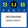 20370AL000 Subaru Mount shock r 20370AL000, New Genuine OEM Part