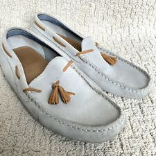 Lacoste Concours Driving Shoe Slip on Loafer Gray US Mens Size 10.5 Suede