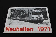 E207 Catalogue vintage Train Ho RÖWA Neuheiten 1971 4 pages Allemand