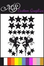 *Fairy's and Stars* Sticker Pack A4 Sheet, Car Decals, Bedroom, 12 Colours