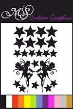 * Hadas Y Estrellas * paquete de pegatinas A4 Hoja, alquiler de calcomanías, Dormitorio, 12 Colores