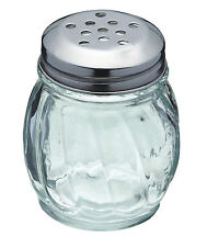 Kitchen Craft Glass & Stainless Steel Large Hole Sugar Chilli Flake Herb Shaker