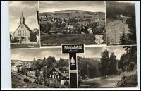 DDR Postkarte Thüringen 1969 SCHMIEDEFELD Rennsteig ua. Film-Bühne, Kirche uvm.